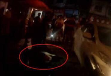 男子酒后醉躺马路中间 司机未留意从其身上碾过