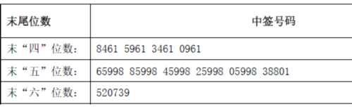 银都股份网上发行中签号出炉 共59400个