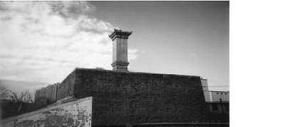 永定门和天桥的三座石碑