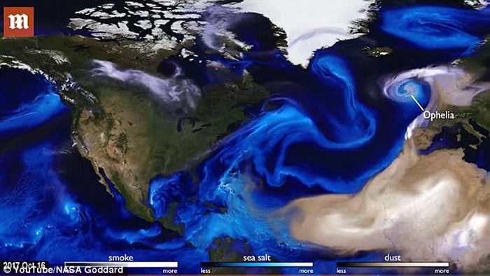 美国NASA公开由超级电脑配合卫星数据制成