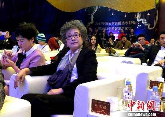 图为国家一级演员宋春丽出席2017中国好演员推选表彰会。 张玲 摄