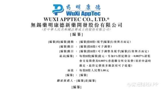 药明康德递交香港上市申请 上半年利润同比增67%