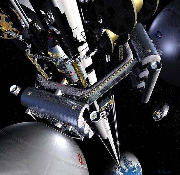 大林组株式会社和静冈大学建造合作关系,研究团队正在积极探索其它方法,建造新型太空电梯,便于游客在2050年进入太空。目前本月将首次在太空进行迷你太空电梯实验,测试该方案的可行性。