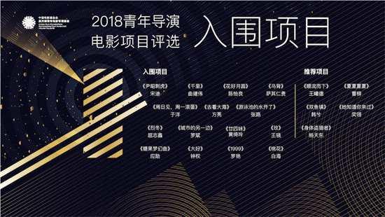 吴天明青年电影专项基金2018青年导演培育计划