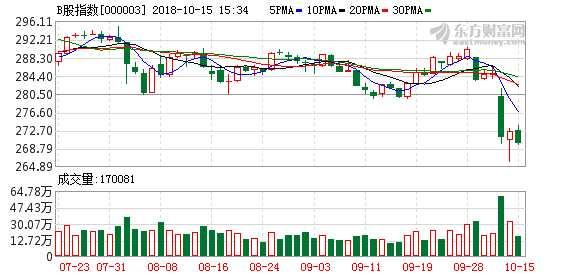 沪市B股指数报收269.99点 跌幅0.92%
