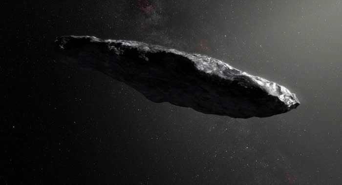 美国科学家推测星际小行星奥陌陌(Oumauamua)可能是外星飞船