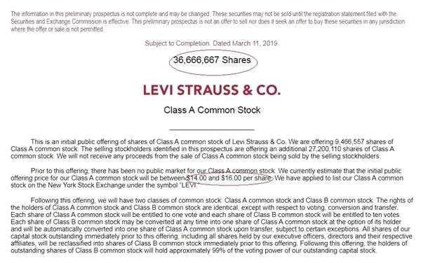 时隔35年 李维斯要重新上市了!这9大IPO同样值得关注
