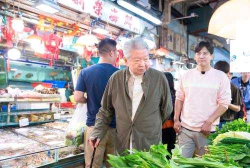 蔡澜录制《我们的师父》 受访者供图