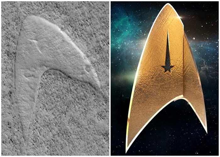 火星表面惊现外形酷似经典科幻电影《星空
