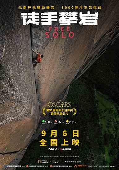 奧斯卡獲獎影片《徒手攀巖》定檔9月6日 凱時贊助登山隊創造