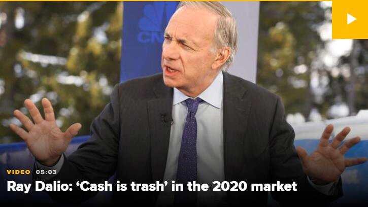 達里奧:現金就是垃圾建議持有多元化投資組合