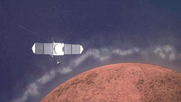 """NASA""""火星大气与挥发物演化""""任务探测器"""