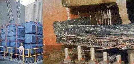 新泽西塞伦核电站损毁的变压器。 图片来自:Modern Survival Blog