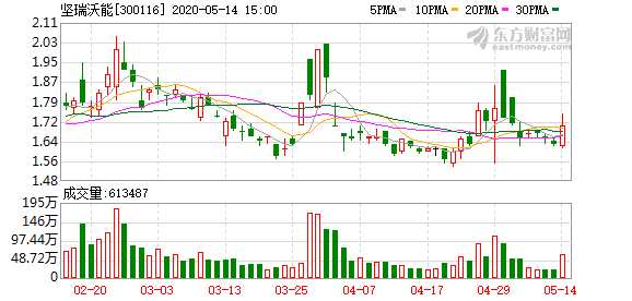 堅瑞沃能控股股東部分股份將被拍賣
