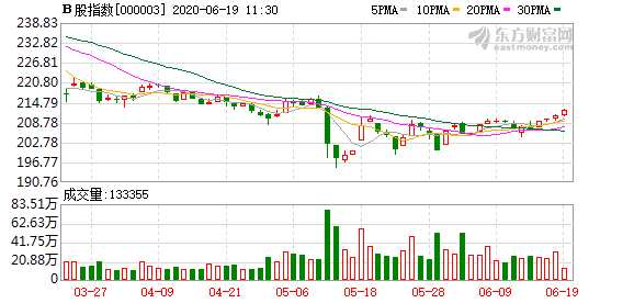 滬深B股市場小幅上漲:B股指數上漲0.85% 成份B指漲0.74%