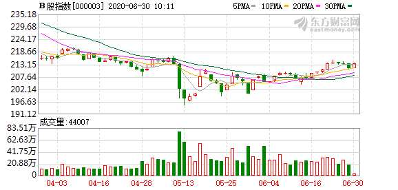 滬深B股市場小幅上漲:B股指數上漲0.93% 成份B指漲0.71%
