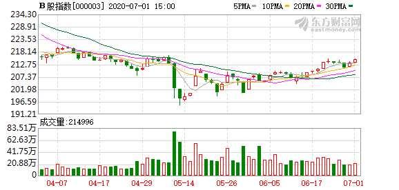 滬深B股市場小幅收漲:B股指數上漲0.62% 成份B指漲0.82%