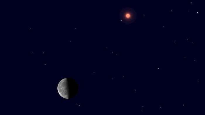 """7月12日凌晨天宇将上演""""火星合月""""美丽"""
