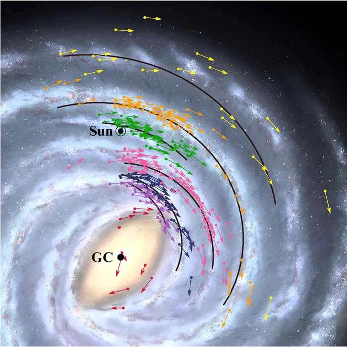 日本国家天文台绘制银河系新地图 中心超
