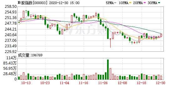 滬深B股市場收盤:B股指數上漲0.66% 成份B指上漲1.95%