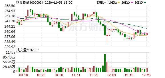 滬深B股市場收盤:B股指數上漲0.55% 成份B指上漲0.39%
