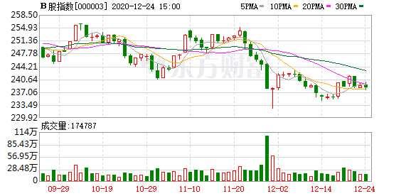 滬深B股市場收盤:B股指數下跌0.28% 成份B指下跌1.45%