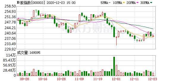 滬深B股市場收盤:B股指數上漲0.18% 成份B指下跌0.66%