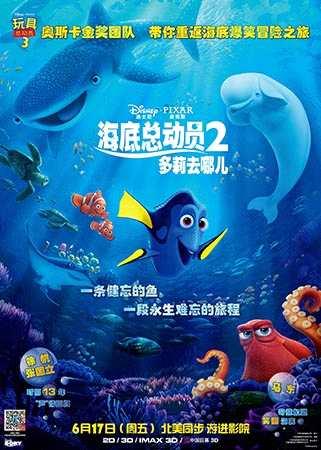 《海底总动员2》票房火爆 大破北美首映纪