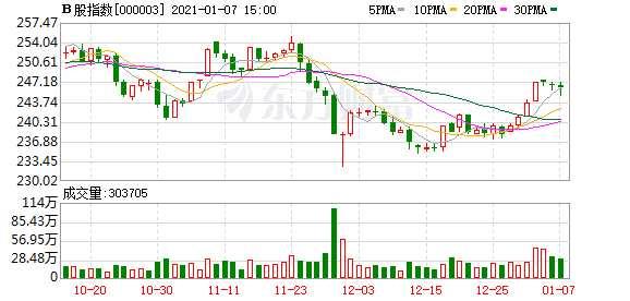 滬深B股市場收盤:B股指數下跌0.14% 成份B指上漲0.99%