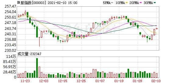 沪深B股市场收盘:B股指数上涨0.28% 成份B指上涨2.34%