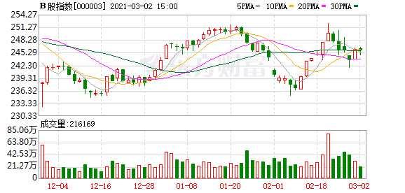 沪深B股市场收盘:B股指数下跌0.15% 成份B指下跌1.14%