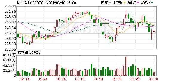 沪深B股市场收盘:B股指数上涨0.43% 成份B指上涨0.10%