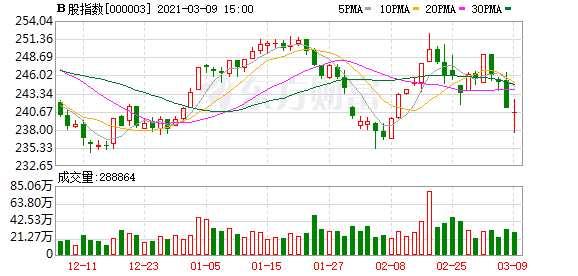 沪深B股市场收盘:B股指数下跌0.25% 成份B指下跌0.34%