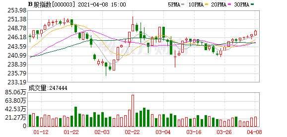 沪深B股市场收盘:B股指数上涨0.43% 成份B指下跌0.79%