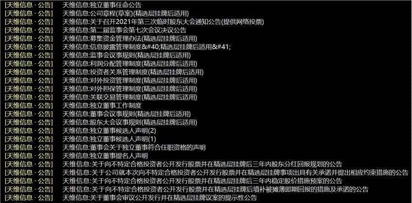 天维信息精选层小IPO拟发行不超过750万股 发行底价8元/股