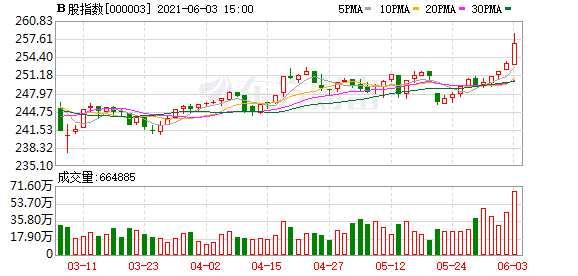 滬深B股市場收盤:B股指數上漲1.41% 成份B指0.43%