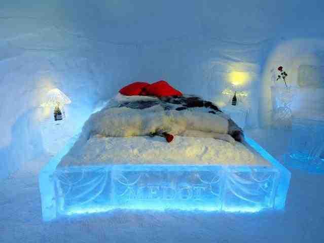 用雪建成的酒店 你敢住吗