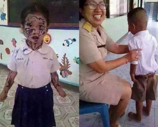 美术课上老师让画最好的朋友