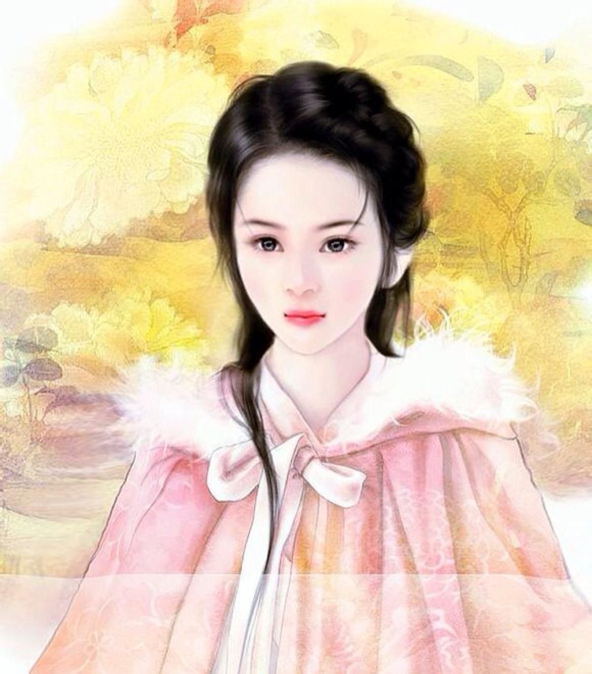 唐朝皇后妃子手绘画