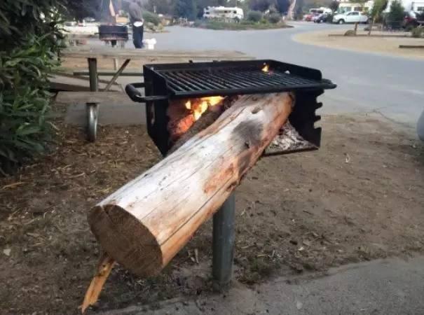 劈柴太麻烦,就这样直接拿来生火吧