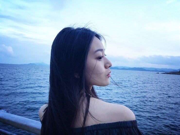 水晶清新写真 海边漫步清纯甜美