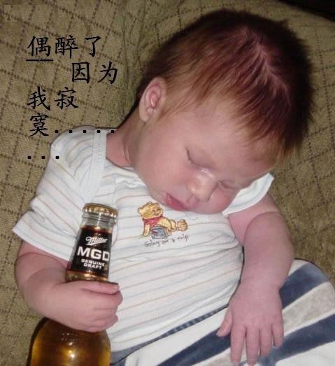 偶喝醉了,因为偶寂寞