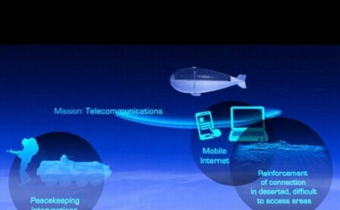 新型无人空中飞船可在同温层高度监控地表