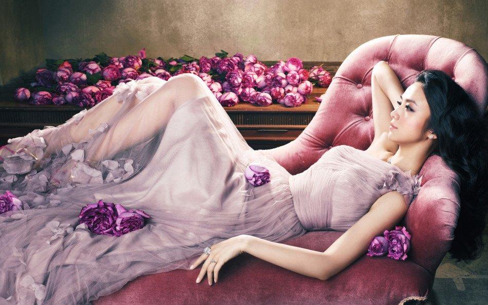 气质美女汤唯长裙高清写真