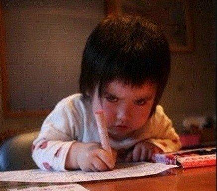 天天做作业,我心里很不爽