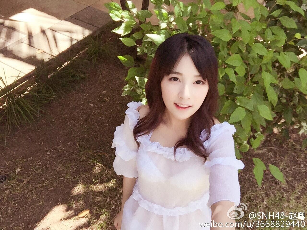 中国女子偶像团赵粤 清纯美女