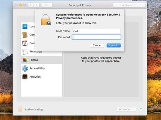 苹果Mac OS曝特大漏洞:无密码解锁电脑