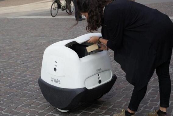 意大利自主送货机器人YAPE已完成阶段道路测试