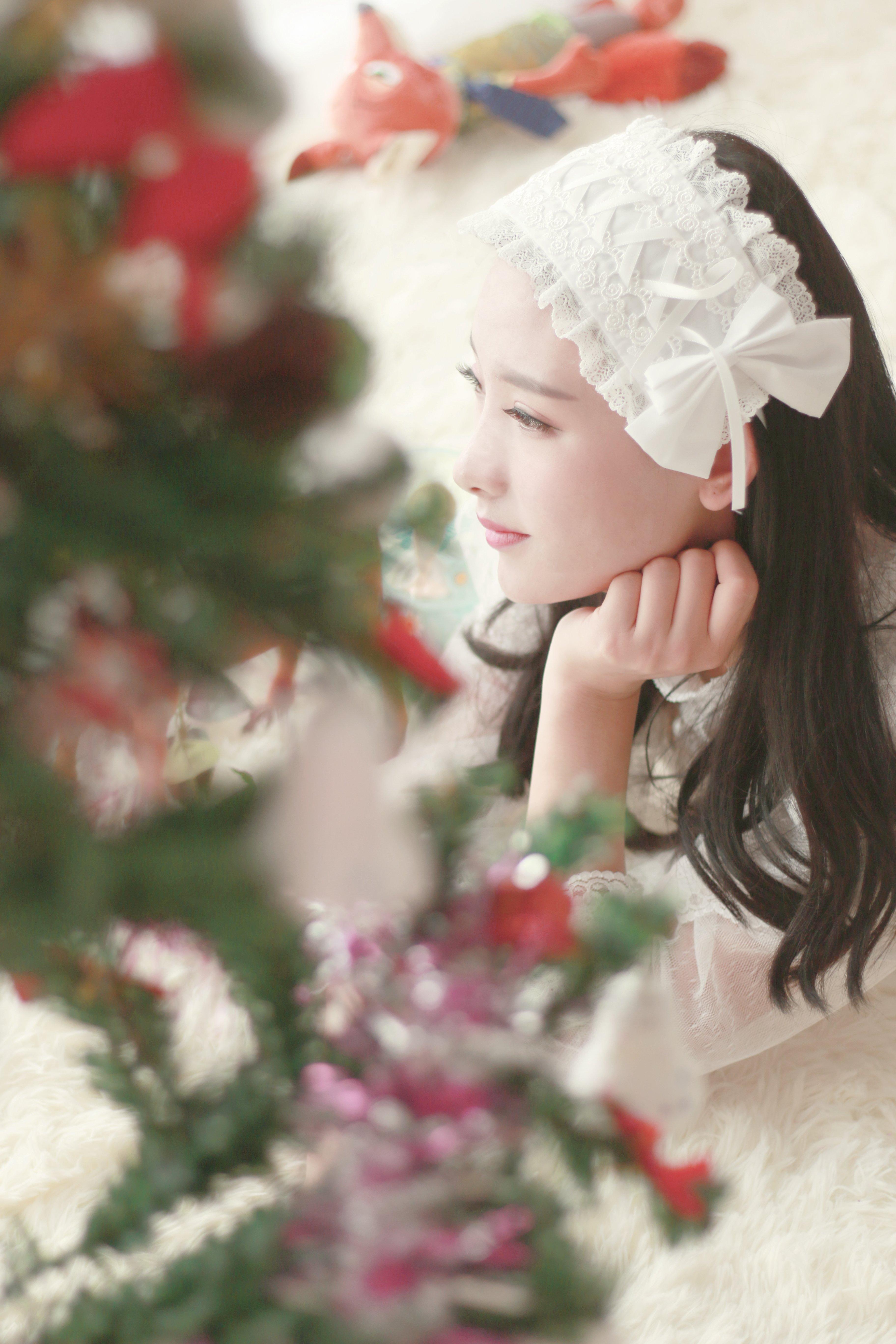 仝爱爱圣诞造型唯美梦幻 这样的她你喜欢吗