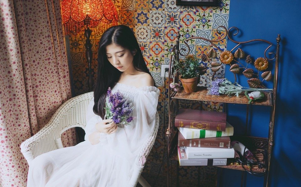 清纯女神白裙私房唯美写真